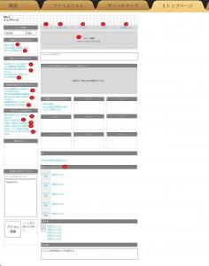 ページ構成図のサンプル